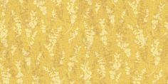 Fletcher Yellow (AFL 03) - John Morris Wallpapers - A delightful shadow leaf design with overlaying images in shades of one colour on a woven texture. Shown here in the deep mustard yellow. Please request sample for true colour match.