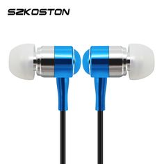 Universal 3.5mm In-ear Earphones Super Clear Bass Metal  earphone Noise isolating Earbuds For iPhone Samsung Xiaomi Mp3Mp4