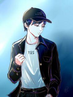 Karry Wang Jong Suk, Kai, Chibi, Anime, Husband, Fan Art, Actors, Boys, Fictional Characters