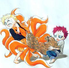 Uzumaki Naruto & Kyuubi vs Sabaku Gaara & Shukaku