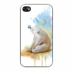 Panda Kiss Butterfly Iphone 4/4s Case