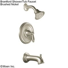 Brantford Shower Head & Tub Faucet - Brushed Nickel