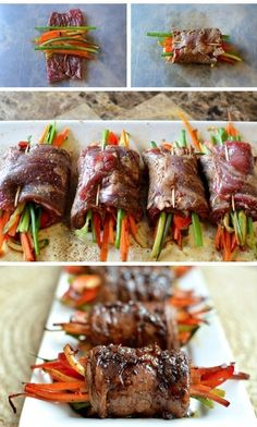 Balsamic Glazed Steak Rolls