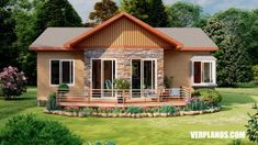 Single Storey Cottage House With Three Bedrooms - OFW Newsbeat Cottage House Designs, Cottage Homes, Story House, My House, African Hut, Little House Plans, Brick Accent Walls, Water Villa, Adobe House