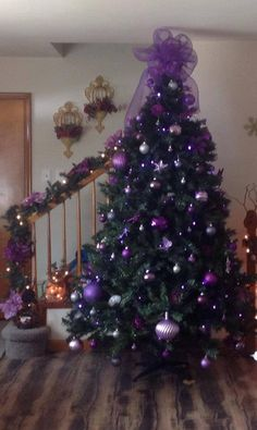 Purple Christmas Tree Decorations are certainly one inseparable perhaps the Christmas holidays, without which Christmas would lose its color, spirit, . Purple Christmas Tree Decorations, Silver Christmas Tree, Beautiful Christmas Trees, Noel Christmas, Christmas Colors, Xmas Tree, Christmas Tree Ornaments, Christmas Wreaths, Coastal Christmas