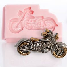 Motorcycle Mold  Flexible silicone for polymer by MoldMeShapeMe