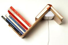 Lililite Reading Lamp EUR What a nifty little gadget: a shelf lamp Minimalist Bookshelves, Creative Bookshelves, Bookshelf Design, Creative Bookmarks, How To Make Bookmarks, Book Lamp, Home Library Design, Home And Deco, Contemporary Decor