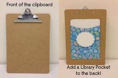 Mount on the back of a clipboard for double-sided storage! This is CTP's NEW Jumbo Library Pocket!