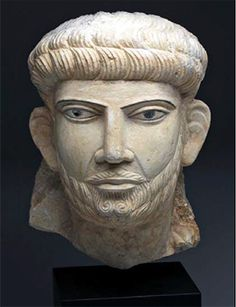 Second–Third Century Palmyran limestone portrait head of a prince