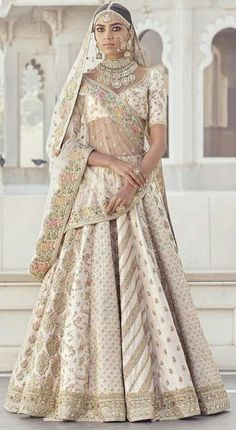 Sabyasachi Bridal Lehenga Online on Happy Shappy. Browse trending collection and price range for bridal and wedding. Indian Bridal Outfits, Indian Bridal Fashion, Indian Bridal Wear, Indian Dresses, Bridal Dresses, Indian Wear, Sabyasachi Lehenga Bridal, Indian Bridal Lehenga, Sabhyasachi Lehenga