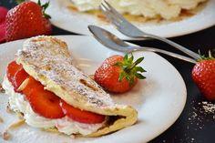 Erdbeer-Palatschinken #erdbeeren #palatschinken #pfannkuchen