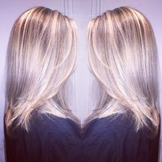 Beautiful balayage I created for my sister in May. Wella color 10/81 ct