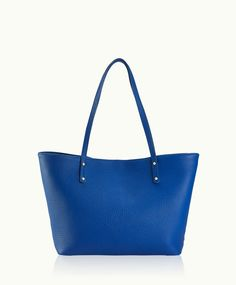 GiGi New York | Cobalt Mini Taylor | Pebble Grain Leather