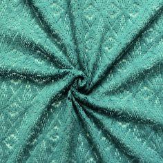 "Wollstrick ""Rhombus"" Farbe Petrol 14392"