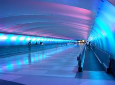 Detroit International Airport. I've been through this tunnel on my way to several destinations!