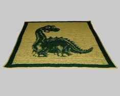 Best Images knitting charts simple Tips Dinosaur Baby Blanket – Illusion Knit – PDF pattern Easy Blanket Knitting Patterns, Knitting Charts, Free Knitting, How To Start Knitting, Knitted Baby Blankets, Vintage Knitting, Stitch Patterns, Pdf, Knitting Projects