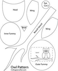 owl pattern.. make out of felt for some bows for my sweet Genevieve?? I'm thinkin' so!