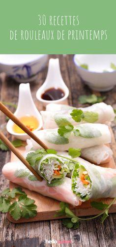30 easy recipes of spring rolls Cuisine Asian Recipes, My Recipes, Ethnic Recipes, Cheap Meals, Easy Meals, Sushi, Vegetarian Recipes, Healthy Recipes, Spring Rolls