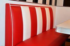 #arredo annni 50 #lusima #arredamento americano anni 50 #arredo vintage #www.americanstylelusima.it #divanetto vintage #booth