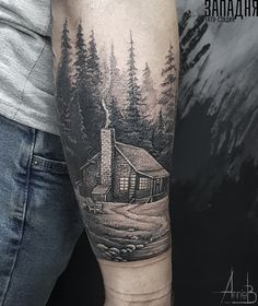 Tattoo Anna Bubnova - tattoo's photo In the style Whip Shading, Forest, Differe Cool Forearm Tattoos, Dad Tattoos, Cute Tattoos, Black Tattoos, Body Art Tattoos, Tattoos For Guys, Xoil Tattoos, Tattoo Ink, Tattoo Sleeve Designs