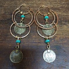 A personal favorite from my Etsy shop https://www.etsy.com/listing/386220484/turquoise-w-turkish-coin-drop