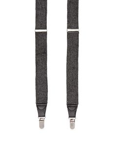 Saddlebred® Donegal Tweed Stretch Clip Suspenders