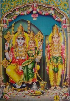 Sita, Rama and Lakshmana from Badrachalam