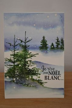 by Micheline Jourdain card stamping winter Christmas