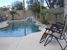 Relaxing back yard pool