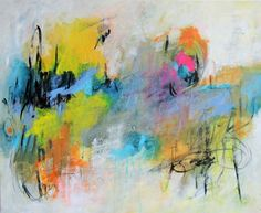 """Contemporary Painting - """"Youre Talking in Circles"""" (Original Art from Kat Crosby Art)"""