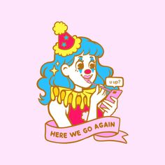 Circus Aesthetic, Aesthetic Girl, Aesthetic Pastel Wallpaper, Aesthetic Wallpapers, Cute Clown, Pretty Pictures, Pretty Pics, Clowning Around, Tree Wallpaper