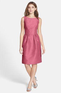 """Papaya"" Alfred Sung Boatneck Dress worn by Tina in Glee's ""A Wedding"" episode. #glee #wedding."