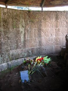 Julius Caesar's Grave. People still bring flowers here, which I find sort of astonishing and awesome.