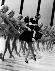 Eleanor Powell leads the dance line in 'Broadway Melody' of 1940