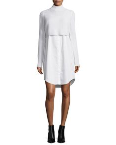 Raleigh Ribbed Combo Sweater Dress