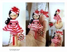 Collar de muñeca  por Delafelicidad en Etsy