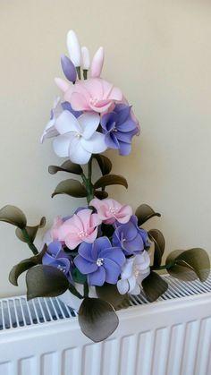 สีม่วง/ขาว/ชมพู Nylon Flowers, Wire Flowers, Acrylic Flowers, Clay Flowers, Fabric Flowers, Paper Flowers, Silk Flower Arrangements, Flower Vases, Flower Crafts