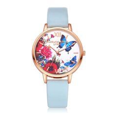Top Luxury Brand LVPAI Watches Women Quartz Wristwatch Clock Elegant Ladies Dress Butterfly Printing Gift Watches