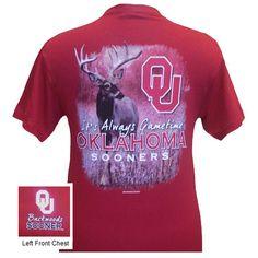 Oklahoma Boomer Sooners OU Gametime Deer Backwoods Unisex Bright T Shirt