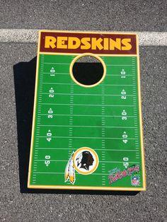 #Redskins cornhole board.