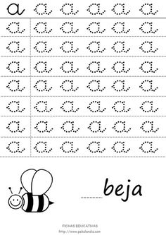 Cursive Small Letters, Cursive Alphabet, Tracing Letters, Alphabet Worksheets, First Grade Spelling, Spelling Words, Preschool Printables, Preschool Worksheets, Grande Section