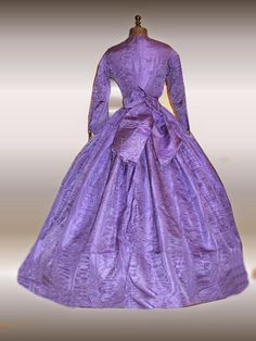 Purple late CW gown backview