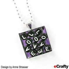Cascading Love, Rainy Days & Mondays ~ Typeset Message Pendants with Nail Polish Base - Recipe from eCrafty.com Design by Anne Strasser #ecrafty #nailpolish #nailpolishjewelry #alphabetjewelry #messagejewelry #trayprendants #jewelrysupplies #diynecklace Materials from eCrafty.com:... Summer Camp Crafts, Camping Crafts, Nail Polish Jewelry, Alphabet Beads, White Letters, Type Setting, Love Design, Diy Necklace, Ball Chain