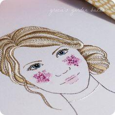 Beautiful.  'English Rose' embroidery in progress by Gracie's Garden Bazaar, via Flickr