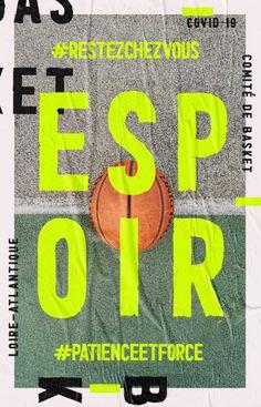 covid19  hope / espoir / patience  basketball loireatlantique Patience, Basketball, Letters, Studio, Fonts, Study, Letter, Netball
