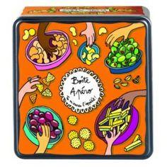 Une grande et jolie boîte pour conserver les olives, pistaches, chips, cacahouètes...