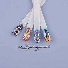 Taller diseños Hora Warner 💅😉 #horawaner #nails #nailart #pasionuñas💅 #esmalte #hechoamano #uñasytrazos #uñasconestilo #uñasinovadoras… Vegas Nails, Nailart, Rings, Instagram, Enamel, Caricature, Fingernail Designs, Atelier, Hand Made