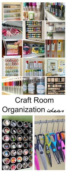 Plenty of great craft room organisation and storage ideas in this post - from inexpensive DIY to more costly, they are al fantastic organising ideas!