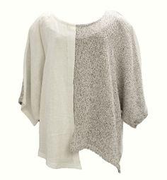 AKH Fashion Lagenlook Leinenpullover Shirt in weiß XXL Mode bei www.modeolymp.lafeo.de