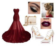 """red dreams"" by icantdreamanymore ❤ liked on Polyvore featuring Christian Louboutin and Fendi"